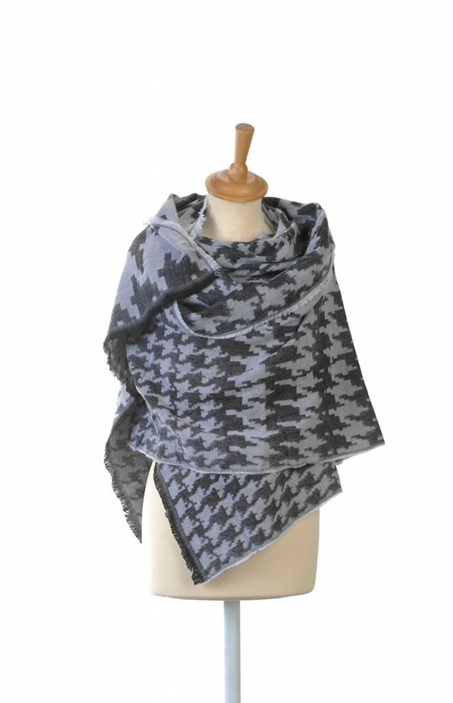 Omslagdoek Sjaal Abstract Grijs