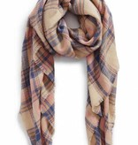 Sjaal Posh Plaid Roze / Blanket Scarf