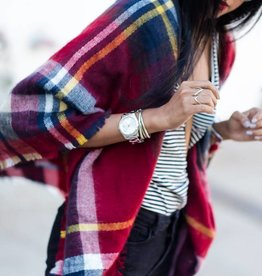 Blanket Scarf Posh Plaid Square Rood