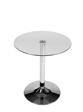 Kantoormeubelen Plus Glazen tafel 70 cm rond doorzichtig