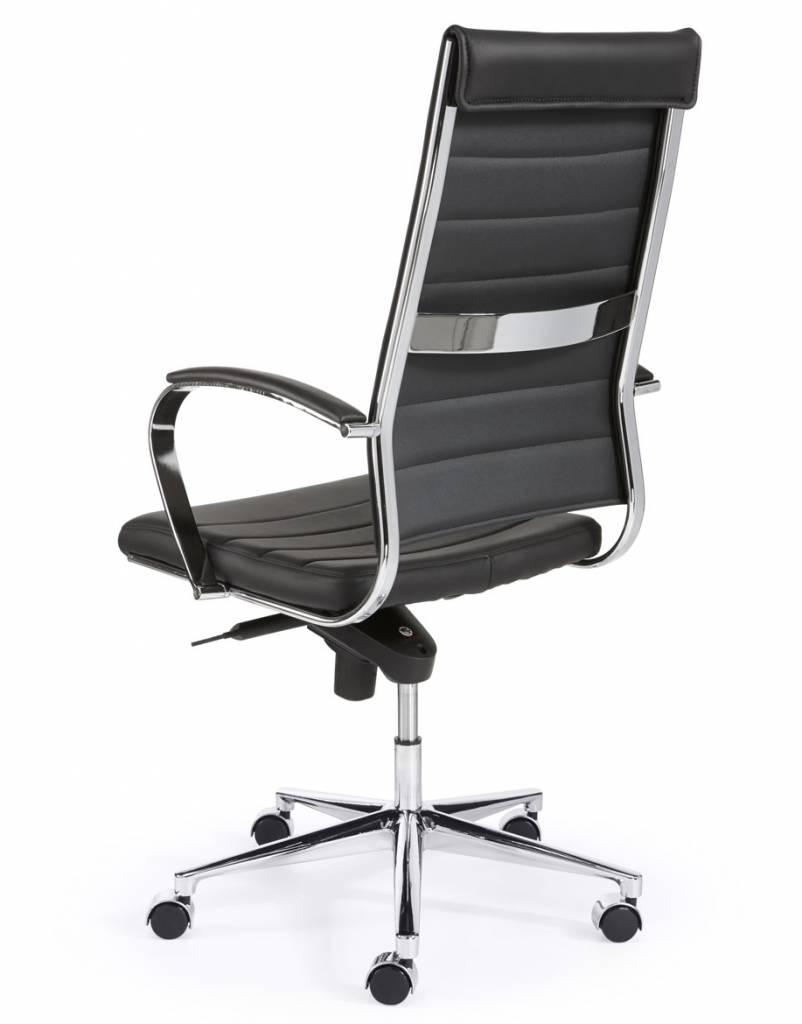 Bureau Stoel Luxe.Bureaustoel Design Luxe Zwart Kantoormeubelen Plus