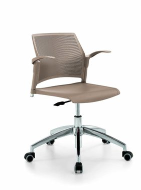 Kantoormeubelen Plus Holly stoel met chromen design onderstel