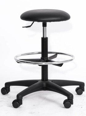 Kantoormeubelen Plus Armani industriële werkstoel met zitting van ECO zwart kunstleder