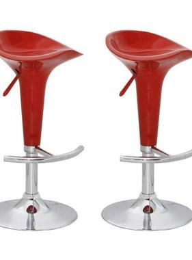 vidaXL Barkruk Las Vegas rood (set van 2)
