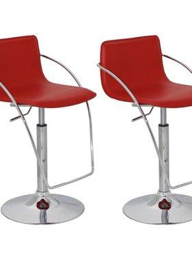 vidaXL Barkruk Praag rood (set van 2)