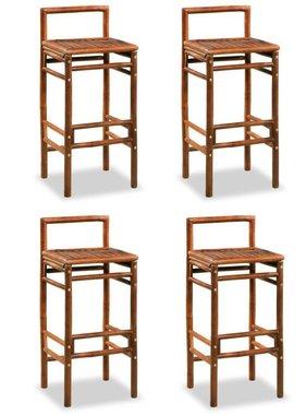 vidaXL Barkrukken 38x36x90 cm bamboe bruin 4 st