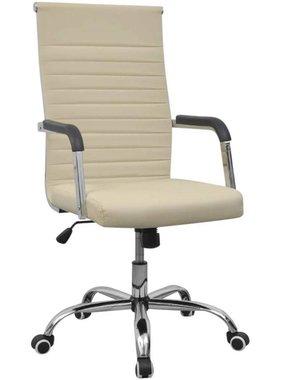 vidaXL Bureaustoel 55x63 cm kunstleer gebroken wit
