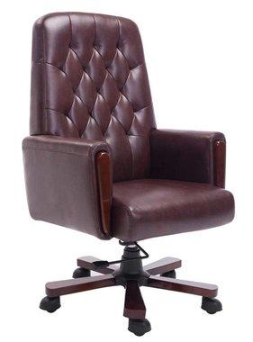 vidaXL Kunstleren Chesterfield bureaustoel (bruin)