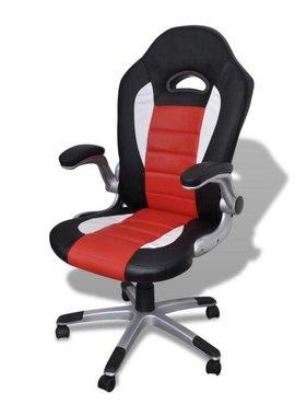 vidaXL Kunstlederen bureaustoel modern rood