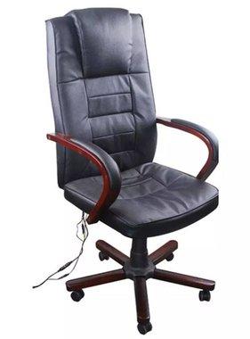 vidaXL Bureaustoel met massage zwart kunstleer