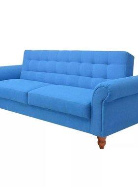 vidaXL Slaapbank stof blauw