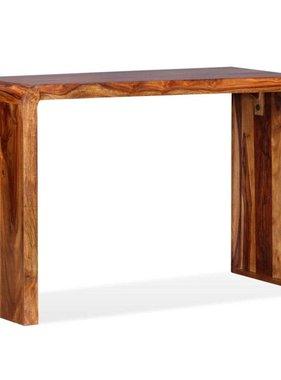 vidaXL Dressoir/bureau massief sheesham hout bruin