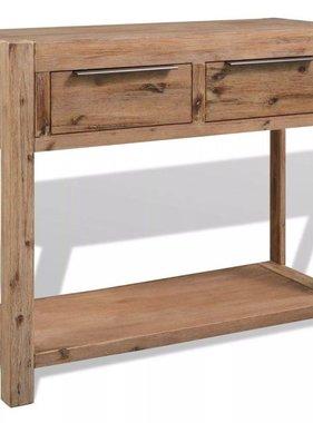 vidaXL Console tafel 73x33x83 cm massief acaciahout