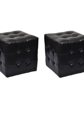 vidaXL Hocker 30 x 30 cm zwart (2 stuks)