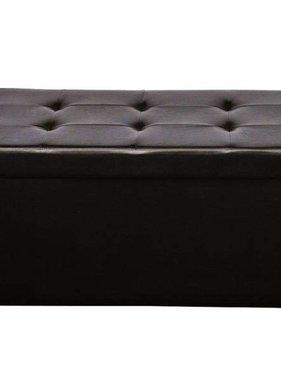 vidaXL Hocker opvouwbaar 90 x 45 cm bruin