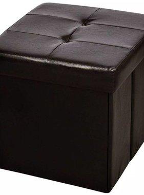 vidaXL Hocker opvouwbaar 42 x 42 cm bruin