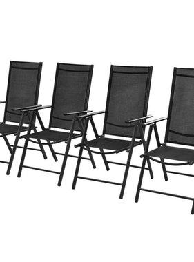 vidaXL Tuinstoelen 54x73x107 cm aluminium zwart