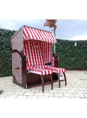 vidaXL Strandstoel XL rood-bruin