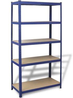 vidaXL Opbergrek 90x40x180 cm staal blauw