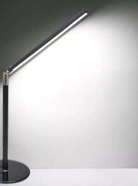 vidaXL Leeslamp-tafellamp met LED koud wit licht dimbaar 4 W zwart