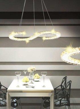 vidaXL LED Hanglamp S-vormig kristal 22 W