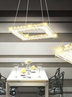 vidaXL LED Hanglamp vierkant kristal 15,4 W