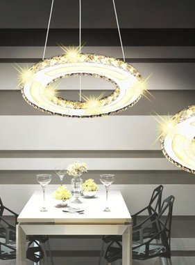 vidaXL LED Hanglamp ringvormig kristal 13 W