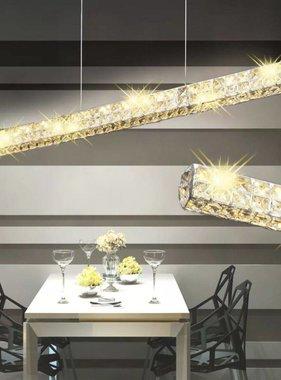 vidaXL LED Hanglamp lange strook kristal 10 W