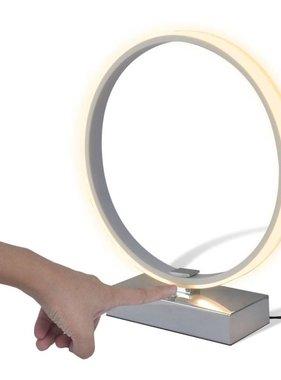 vidaXL Ringvormige LED tafellamp, dimbaar, wit