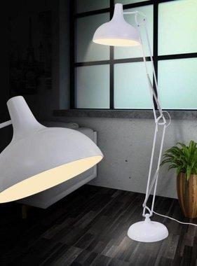 vidaXL Anglepoise vloerlamp wit