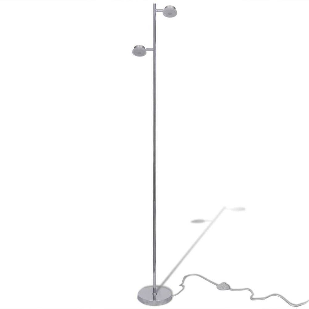 vidaXL Aanpasbare vloerlamp met 2 ingebouwde LED-lampen 2 x 5 W