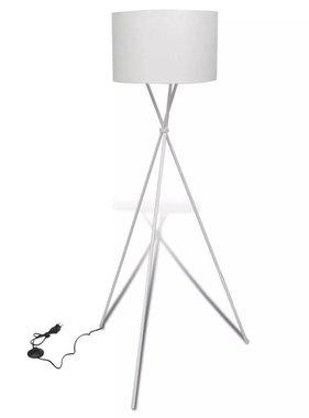 vidaXL Vloerlamp met lampenkap op statief wit