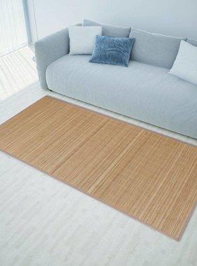 vidaXL Rechthoekige bamboe mat 80 x 300 cm (Bruin)