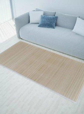 vidaXL Rechthoekige bamboe mat 80 x 300 cm (Neutraal)