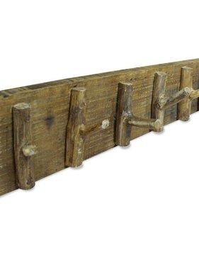 vidaXL Kapstok 60x15 cm massief gerecycled hout