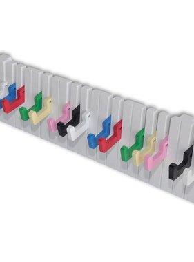 vidaXL Kapstok met keyboard ontwerp (16 kleurrijke haakjes)