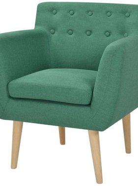 vidaXL Fauteuil 67x59x77 cm stof groen