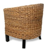 vidaXL Abaca stoel met armleuning (neutrale kleur)