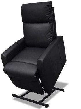 vidaXL Sta-op-stoel verstelbaar elektrisch kunstleer zwart