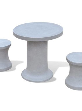 vidaXL Bistroset beton 3-delig
