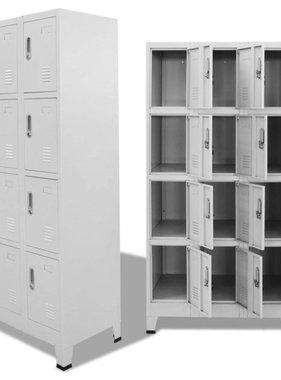 vidaXL Lockerkast met 12 compartimenten 90x45x180 cm