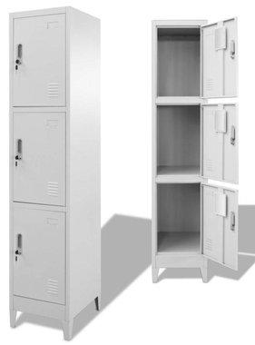 vidaXL Lockerkast met 3 vakken 38x45x180 cm