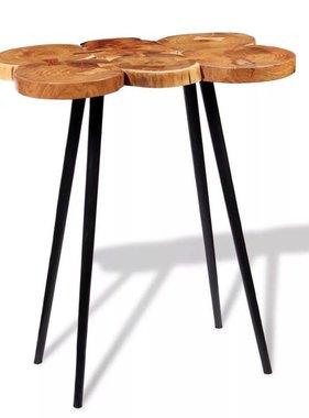 vidaXL Boomstam bartafel massief acaciahout 90x60x110 cm