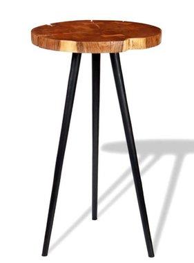 vidaXL Boomstam bartafel massief acaciahout (55-60)x110 cm