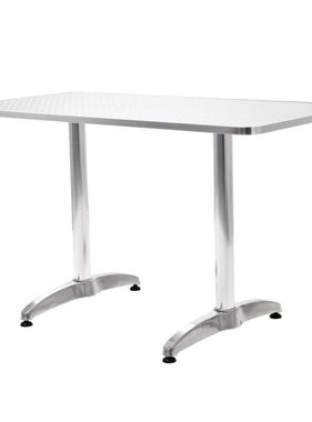 vidaXL Tuintafel rechthoekig 120x60x70 cm aluminium