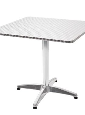 vidaXL Tuintafel vierkant 80x80x70 cm aluminium