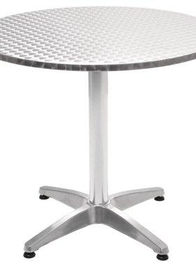 vidaXL Tuintafel rond 80x70 cm aluminium