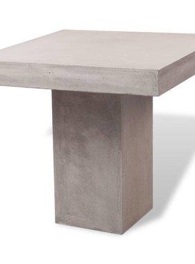 vidaXL Eettafel voor buiten beton rechthoekig