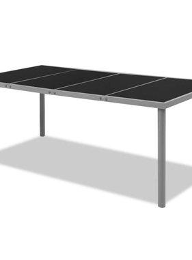 vidaXL Eettafel voor buiten 190 x 90 x 74 cm zwart