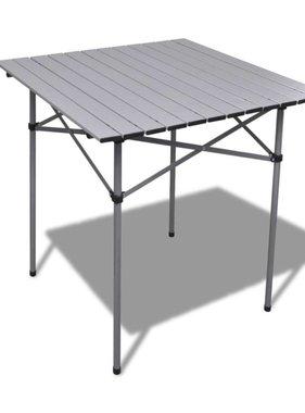 vidaXL Aluminium campingtafel opvouwbaar 70x70x70 cm